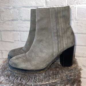 Liebeskind Gray Pebbled Leather Ankle Booties